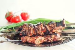 Ψημένο στη σχάρα κρέας χοιρινού κρέατος Στοκ Εικόνα