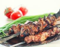 Ψημένο στη σχάρα κρέας χοιρινού κρέατος Στοκ Εικόνες