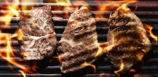 ψημένο στη σχάρα κρέας Στοκ Φωτογραφίες