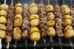 ψημένο στη σχάρα κρέας Στοκ εικόνες με δικαίωμα ελεύθερης χρήσης