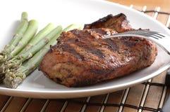 ψημένο στη σχάρα μπριζόλα χοιρινό κρέας στοκ φωτογραφίες