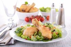 Ψημένο στη σχάρα πόδι κοτόπουλου Στοκ Εικόνες