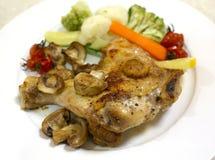 Ψημένο στη σχάρα φούρνος γεύμα ποδιών κοτόπουλου Στοκ Εικόνα