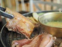 Ψημένο στη σχάρα χοιρινό κρέας Κορέα Στοκ Εικόνες