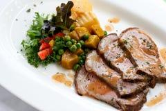 Ψημένο στη σχάρα χοιρινό κρέας στοκ εικόνα με δικαίωμα ελεύθερης χρήσης