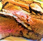 Ψημένο στη σχάρα ψητό βόειου κρέατος τρι-ακρών στοκ φωτογραφίες
