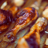 Ψημένο στη σχάρα BBQ κοτόπουλο Στοκ Εικόνες