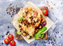 Ψημένο τεμαχισμένο χοιρινό κρέας στοκ εικόνες με δικαίωμα ελεύθερης χρήσης