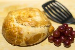 Ψημένο τυρί της Brie Στοκ Εικόνα