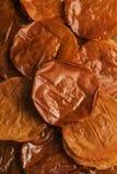 Ψημένο υπόβαθρο φύλλων ζύμης Filo αραβικά γλυκά στοκ εικόνα