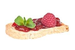 Ψημένο ψωμί με τη μαρμελάδα Στοκ φωτογραφία με δικαίωμα ελεύθερης χρήσης