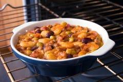 ψημένο casserole φασολιών Στοκ Εικόνες