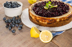 Ψημένο cheesecake λεμονιών βακκινίων Στοκ φωτογραφίες με δικαίωμα ελεύθερης χρήσης