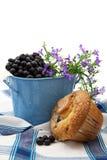 ψημένο muffin βακκινίων πρόσφατα στοκ φωτογραφίες