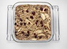 Ψημένο oatmeal με τα μήλα Στοκ εικόνες με δικαίωμα ελεύθερης χρήσης