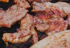 Ψητό χοιρινού κρέατος σε μια καυτή σόμπα Στοκ φωτογραφίες με δικαίωμα ελεύθερης χρήσης