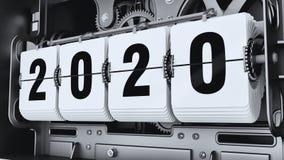 Ψηφία κτυπήματος, αριθμοί 2020 έτους ελεύθερη απεικόνιση δικαιώματος