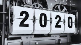 Ψηφία κτυπήματος, αριθμοί 2020 έτους διανυσματική απεικόνιση