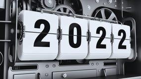 Ψηφία κτυπήματος, αριθμοί 2022 έτους ελεύθερη απεικόνιση δικαιώματος
