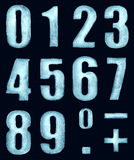 Ψηφία πάγου Στοκ φωτογραφίες με δικαίωμα ελεύθερης χρήσης