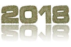 2018 ψηφία που αποτελούνται από τα στρατιωτικά λωρίδες κάλυψης στο στιλπνό άσπρο υπόβαθρο διανυσματική απεικόνιση