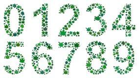 Ψηφία που αποτελούνται από τα φύλλα ελεύθερη απεικόνιση δικαιώματος