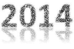 2014 ψηφία που αποτελούνται από διαφορετικό διανυσματική απεικόνιση