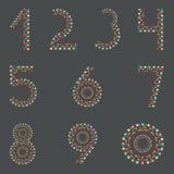 Ψηφία 1.2.3.4.5.6.7.8.9.0 Σημαίες κόμματος αριθμοί ελεύθερη απεικόνιση δικαιώματος