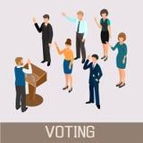 Ψηφίζοντας άνθρωποι ενώπιον του ομιλητή στο βήμα Στοκ φωτογραφία με δικαίωμα ελεύθερης χρήσης