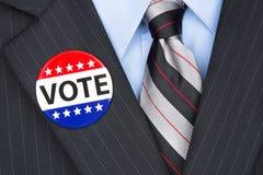 Ψηφίζοντας πολιτικός Στοκ Εικόνες