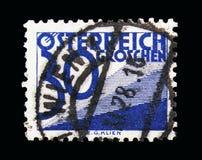 Ψηφίο & τρίγωνα, ταχυδρομικά τέλη που οφείλεται (1925-1934) serie, circa 1925 Στοκ Φωτογραφίες