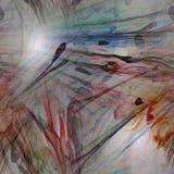 Ψηφιακά αναδημιουργημένη σύσταση λουλουδιών watercolor Στοκ Εικόνες