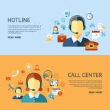 Ψηφιακά αντικείμενα τηλεφωνικών κέντρων και υποστήριξης πελατών Στοκ Εικόνες