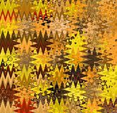 Ψηφιακά αφηρημένα πολύχρωμα χαοτικά κύματα ζωγραφικής στις διαφορετικές σκιές του κίτρινου, καφετιού και πορτοκαλιού υποβάθρου απεικόνιση αποθεμάτων