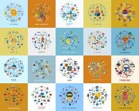 Ψηφιακά εικονίδια τεχνολογίας καθορισμένα στοκ εικόνες