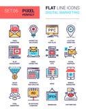 Ψηφιακά εικονίδια μάρκετινγκ Στοκ εικόνες με δικαίωμα ελεύθερης χρήσης
