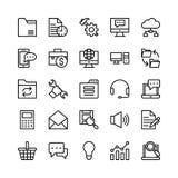 Ψηφιακά διανυσματικά εικονίδια 4 γραμμών μάρκετινγκ Στοκ φωτογραφία με δικαίωμα ελεύθερης χρήσης