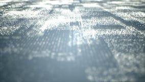 Ψηφιακά διαστημικά μόρια Cyber Στοκ εικόνες με δικαίωμα ελεύθερης χρήσης