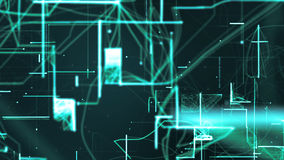 Ψηφιακά διαστημικά μόρια Cyber απεικόνιση αποθεμάτων