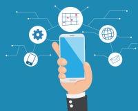 Ψηφιακά κοινωνικά μέσα σε ετοιμότητα επίπεδο στοκ εικόνες