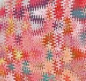 Ψηφιακά κύματα τριγώνων ζωγραφικής αφηρημένα χαοτικά στις διαφορετικές σκιές του ρόδινου και πολύχρωμου υποβάθρου ελεύθερη απεικόνιση δικαιώματος