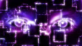 Ψηφιακά μάτια διανυσματική απεικόνιση