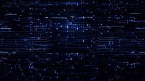 Ψηφιακά μπλε υπόβαθρα υψηλής τεχνολογίας βρόχων απόθεμα βίντεο