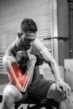 Ψηφιακά παραγμένη εικόνα του ατόμου που κάνει την άσκηση με τους αλτήρες Στοκ φωτογραφία με δικαίωμα ελεύθερης χρήσης