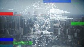 Ψηφιακά παραγμένη ζωτικότητα μιας τρισδιάστατης σφαίρας στροφής με στο πρώτο πλάνο ελεύθερη απεικόνιση δικαιώματος