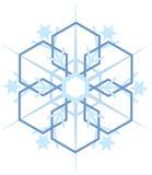 Ψηφιακά παραγμένη μπλε νιφάδα χιονιού απεικόνιση αποθεμάτων