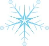 Ψηφιακά παραγμένη μπλε νιφάδα χιονιού ελεύθερη απεικόνιση δικαιώματος