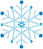 Ψηφιακά παραγμένη μπλε νιφάδα χιονιού διανυσματική απεικόνιση