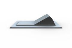 Ψηφιακά παραγμένος άσπρος διακόπτης κτυπήματος απεικόνιση αποθεμάτων