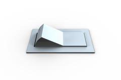 Ψηφιακά παραγμένος άσπρος διακόπτης κτυπήματος διανυσματική απεικόνιση